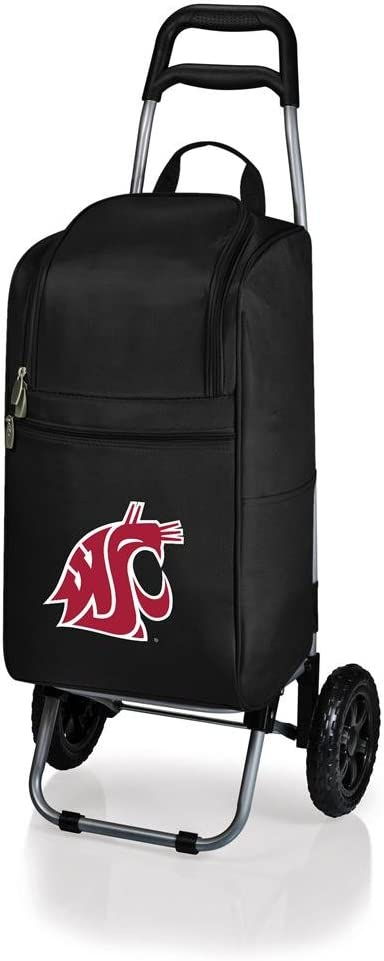 a Picnic Time brand Washington State Cougars ONIVA Rolling Cart Cooler, Black