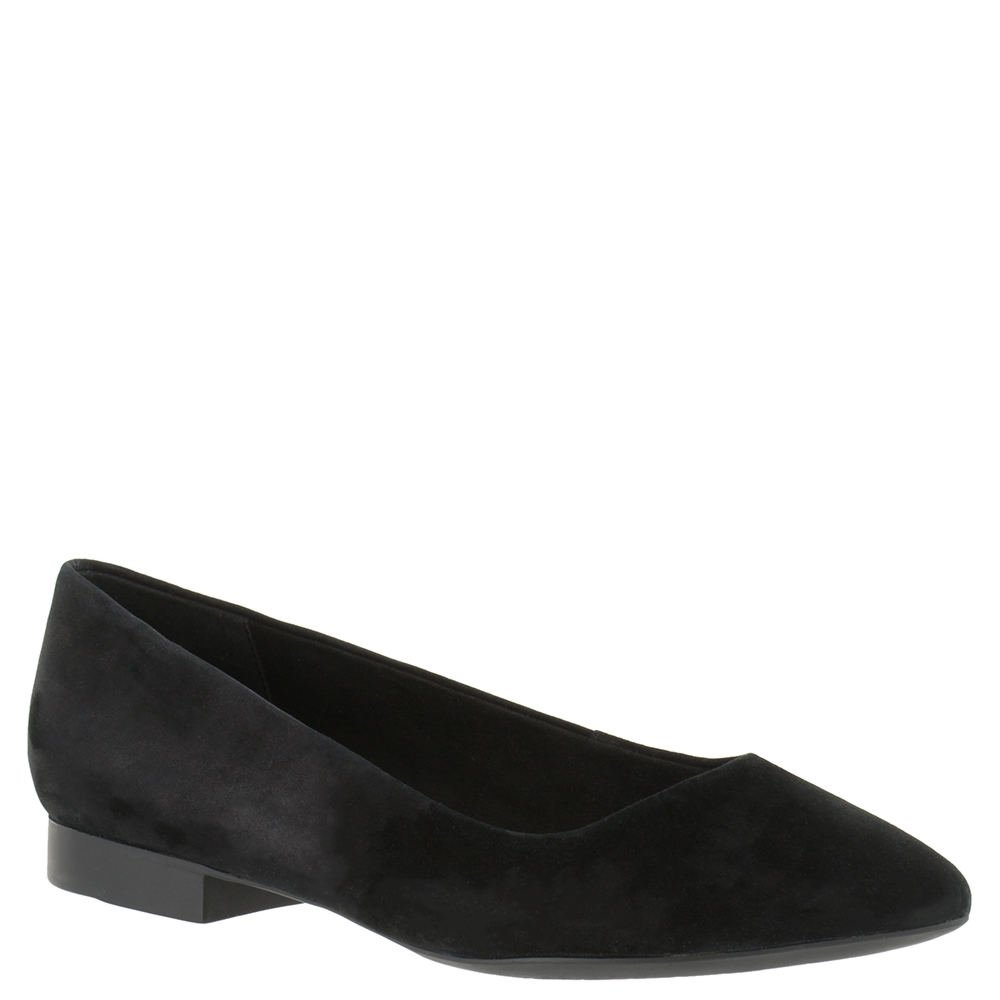 Bella Vita Women's Vivien Flat B01ECY2KFM 10 W US|Black Kid Suede Leather