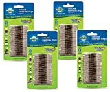PetSafe (4 Pack) Busy Buddy Refill Ring Dog Treats for select Busy Buddy Dog Toys, Natural Rawhide, Size B