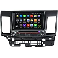 KUNFINE Android 6.0 Otca Core Car DVD GPS Navigation Multimedia Player Car Stereo For Mitsubishi Lancer 2014-2015 Steering Wheel Control 3G Wifi Bluetooth Free Map Update 8 Inch