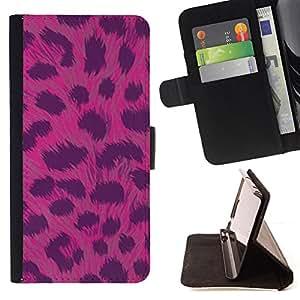 """For HTC One A9,S-type Patrón de piel rosada Animal Negro"""" - Dibujo PU billetera de cuero Funda Case Caso de la piel de la bolsa protectora"""