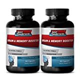 Memory Supplements Senior - Brain and Memory Booster - Brain and Memory Support to Boost Memory, Focus and Concentration (2 Bottles 120 Capsules)