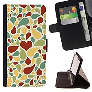Jordan Colourful Shop - Love Heart Pattern For Apple Iphone 6 - < Leather Case Absorci????n cubierta de la caja de alto impacto > -