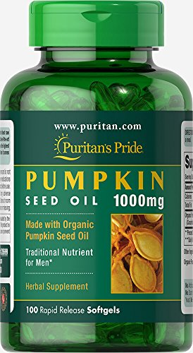 Puritan's Pride Organic Pumpkin Seed Oil 1000 mg-100 Softgels