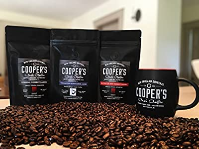 Barrel Aged Coffee - Flavored Coffee by Cooper's Cask - Premium, Single Origin Coffee Beans Paired With Award Winning Aged Rum & Whiskey - Fragrant, Full Bodied Taste - 12 oz Hand-Packed Bags from Cooper's Cask Coffee