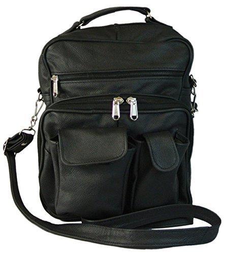 Amazon.com: Womens Organizer Handbag Premium Leather Purse Lots of ...