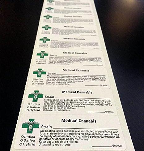 100 Smell Proof Bags (w/ GREEN CROSS LABEL) Marijuana Cannabis - 3 1