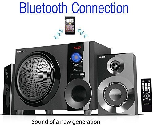 Boytone BT-210FB Wireless Bluetooth Stereo Audio Speaker with Powerful Sound, Bass System, Excellent Clear Sound & FM Radio, Remote Control, Aux-In Port, USB/SD/for Phone's, La (Certified Refurbished) by Boytone