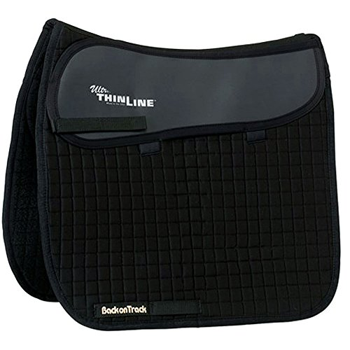BACK ON TRACK THEREPY THERAPEUTIC CONTENDER II COMFORT DRESSAGE SADDLE PAD BLACK