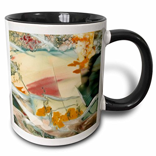 3dRose 93698_4 Oregon, Owyhee River Valley Morrisonite Jasper-US38 BJA0717-Jaynes Gallery Two Tone Mug 11 oz Black/White
