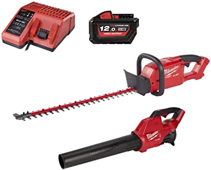 Pack MILWAUKEE FUEL M18 Blower FBL-0 - Cortasetos CHT-0 - Batería 18V 12.0Ah - Cargador M12-18C: Amazon.es: Hogar