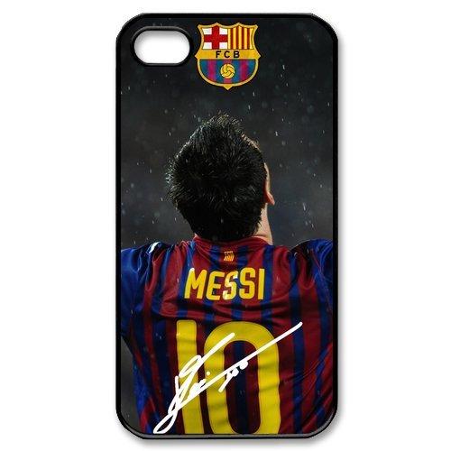 FC Barcelona Lionel Messi Sign iPhone 4 4S Unique Design Unique Gift Cover Case (Batman And Robin Shoes)
