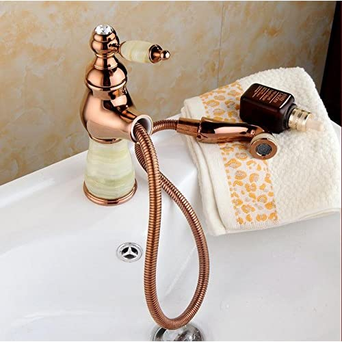 70%OFF PST@ The new all-copper gilded pull jade faucet home bathroom faucet