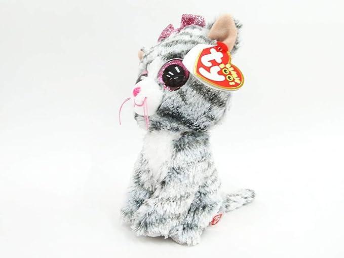 b0511744c278 Amazon.com: Ty Kiki Grey Cat Plush, Regular: Toys & Games