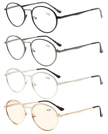 510a1a937a0 Eyekepper 4-Pack Spring Hinges Oval Reading Glasses Included Computer  Glasses +3.5