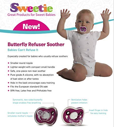 SWEETIE Refuser Pacifier 2 Units RED