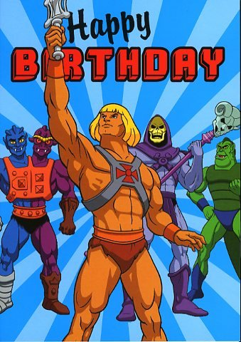 He Man Happy Birthday Greeting Card Amazon Office Products