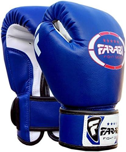 Farabi Sports - Guantes de boxeo para niños (piel sintética, 113 g), color azul: Amazon.es: Deportes y aire libre