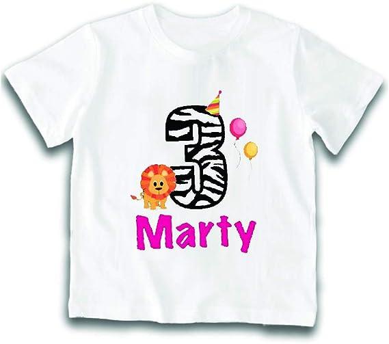 T-Shirt Bimbo Maglietta Personalizzata per Feste di Compleanno Nome Personalizzato 5 Anni Maglia Bambino per Compleanni