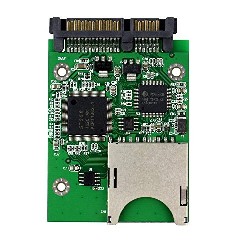 QNINE SD Card to SATA Adapter, SDHC SDXC MMC Memory Card Converter as HDD SSD Solid State Hard Disk Drive by QNINE (Image #2)