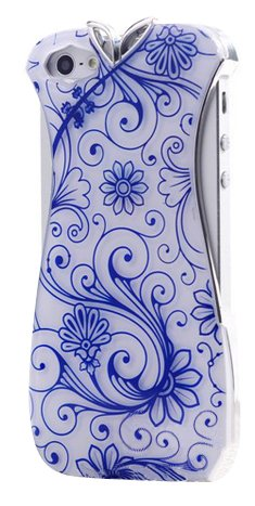 Womens Neon Glow Candy Color Fancy Colorful Cheongsam Costum iPhone 5 Hard Case Cover-Blue