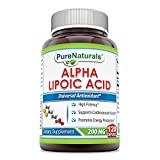 Pure Naturals Alpha Lipoic Acid Capsules, 200 mg, 120 Count