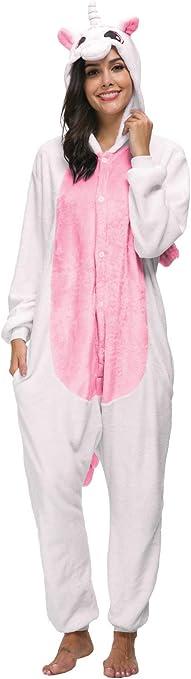TALLA Talla M (Altura 159-168CM). Pijamas Animal Unicornio Carnaval Disfraz Traje Cosplay Kigurumi Adulto Ropa de Dormir Homewear Halloween y Navidad