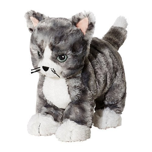IKEA LILLEPLUTT Soft Toy, cat Gray, White, 21cm Multi for sale  Delivered anywhere in USA