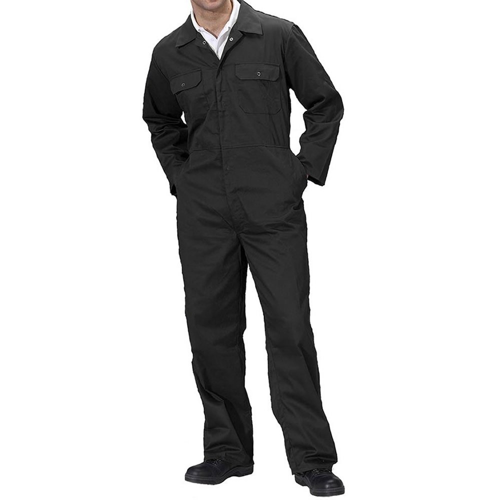 British Designed Men Adults Black Boilersuit Coverall Overalls Workwear