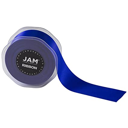 JAM PAPER Double Faced Satin Ribbon - 1 1/2 Inch Wide x 25 Yards - Royal  Blue - Sold Individually