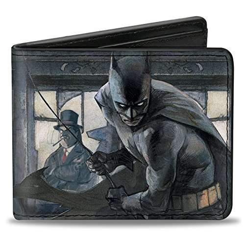 Bi-Fold Wallet - The Dark Knight Annual #1 Cover Pose Batman Action/Mad Hatter/Scarecrow/Penguin in (Penguin Man From Batman)