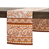 Maison d' Hermine Palatial Paisley 100% Cotton Table Runner 14.50 - Inch by 72 - Inch.