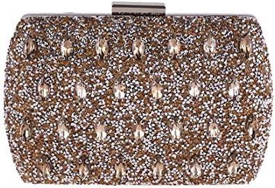 ダイヤモンドイブニングクラッチ、財布トートレディースクロスボディバッグ、20×10×5 Cm(カラー:ゴールド) 美しいファッション (Color : Gold)