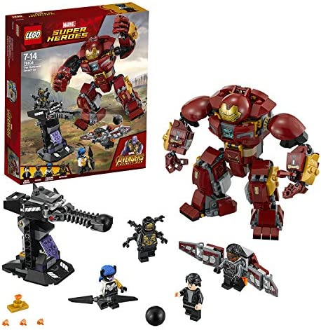LEGO 76104 Marvel Super Heroes The Hulkbuster Smash-Up Bruce Banner, Falcon, Proxima Midnight and Outrider Minifigures Building Set, Avengers Infinity War Toys for Kids