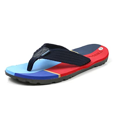 a96a47c8363c TRUDGEMAN Men s Flip Flops Super Soft PU Rubber Summer Sandals Lightweight  Rubber Sole Comfort Thongs (