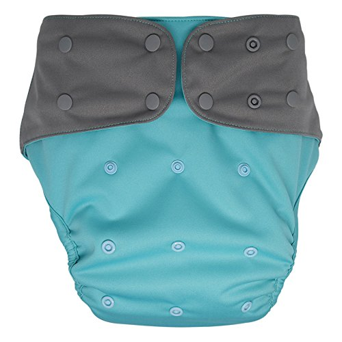 Cloth Diaper Cover - Reusable Special Needs Incontinence Briefs for Big Kids, Teens and Adults (Aqua, Regular)
