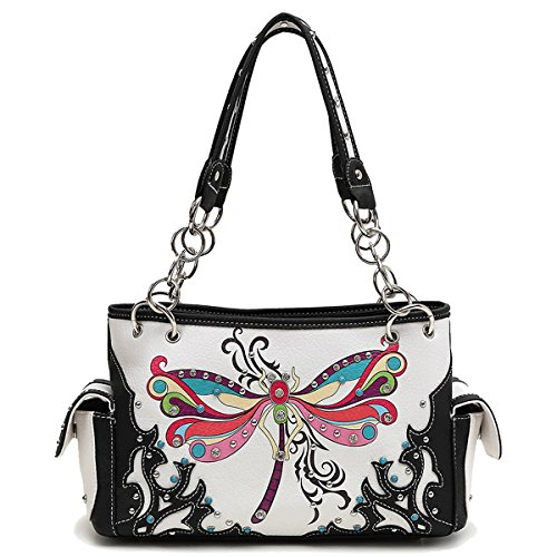 Double Zip Dragonfly black Wallet Western Bag bag Around and a1qZf5