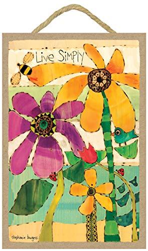 (SJT ENTERPRISES, INC. Live Simply (Flowers, bee, Bird & Ladybugs) 7