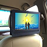 """Car Headrest Mount Holder for DBPOWER 10.5"""" Portable DVD Player with Swivel and Flip Screen and Fits Other 10-10.5"""" Swivel Screen Portable DVD Player - Black"""