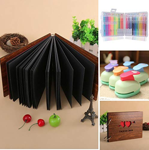 AMdinghaonuo 8 Inch Creative DIY Couple Album Set with Highlighter Embossing Set Gift Random Color