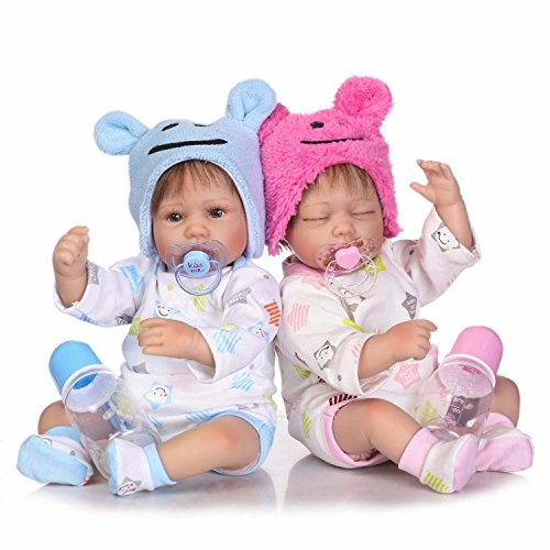 TERABITHIA 16 inch Lifelike Reborn Preemie Baby Boy Girl Dolls Newborn Twins (Reborn Baby Girl Dolls For Sale Cheap)