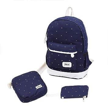 SANFASHION Backpack Set 3 TLG Schulrucksack Schulranzen