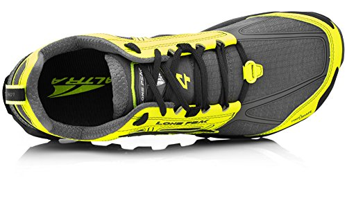 Altra AFM1855F Men's Lone Peak 4.0 Trail Running Shoe, Gray/Yellow - 10 D(M) US