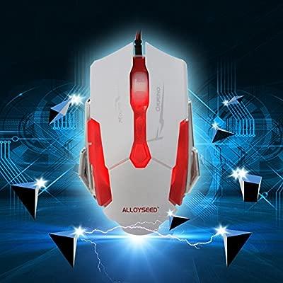 Prettygood7 Ratón óptico ALLOYSEED K1015 USB con Cable para Juegos ...