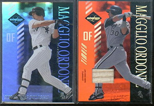 2003 Leaf Limited Timber #60 Magglio Ordonez A Game-Used Memorabilia Card Serial #