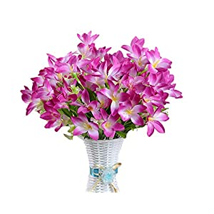 Lopkey Silk Orchids Artificial Flower Bouquet 21