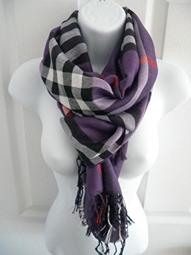 Purple_(US SELLER) Men Women Winter Warm Soft Scarf Stole Wrap Shawl 76