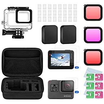Amazon.com : Housing Case Filter Kit for GoPro Hero 7 Hero 6 ...