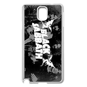 (QGDM) Samsung Galaxy Note 3 Cell Phone Case White Black Sabbath