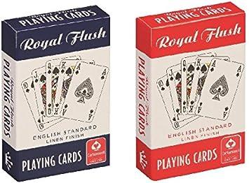 Cartamundi 106889904 Royal Flush Naipes estándar (Pack de 2, Rojo/Blanco/Azul): Amazon.es: Juguetes y juegos